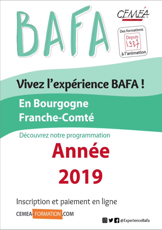 Calendrier BAFA 2019 à télécharger.