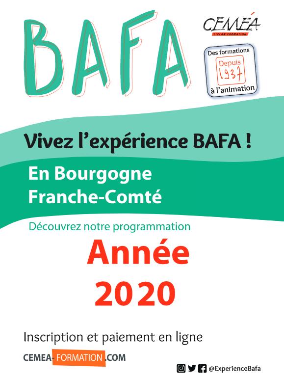 Calendrier BAFA 2020 à télécharger.